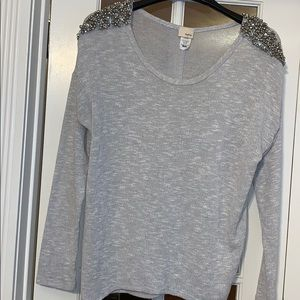 Daytrip Open Back Sweater with bling